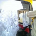 Kielce rysy na szybach autobus