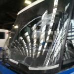 MPK autobus rysy na szybach przednich