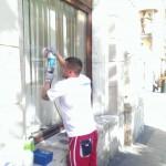 Graffiti z kwasu jak usunąc z szyby Krakó