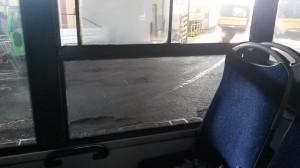 po usunięciu rys na szybie w autobusuie