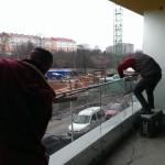 polerowanie szkła balustrady